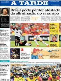 Capa do jornal A Tarde 01/10/2018