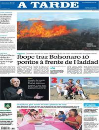 Capa do jornal A Tarde 02/10/2018