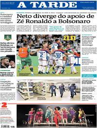 Capa do jornal A Tarde 04/10/2018