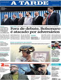 Capa do jornal A Tarde 05/10/2018