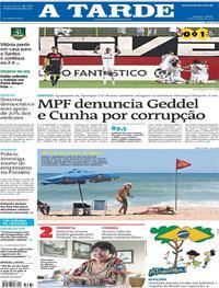 Capa do jornal A Tarde 06/10/2018