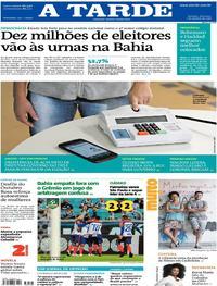 Capa do jornal A Tarde 07/10/2018