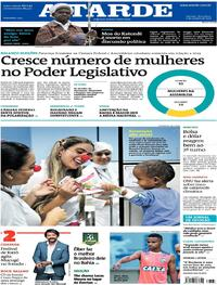 Capa do jornal A Tarde 09/10/2018