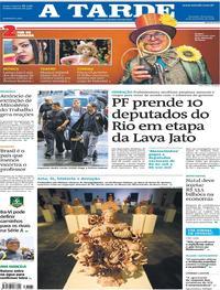 Capa A Tarde 2018-11-09