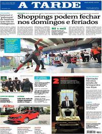 Capa do jornal A Tarde 10/10/2018