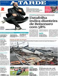 Capa do jornal A Tarde 11/10/2018