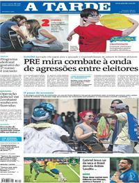 Capa do jornal A Tarde 13/10/2018