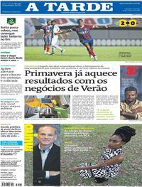 Capa do jornal A Tarde 14/10/2018