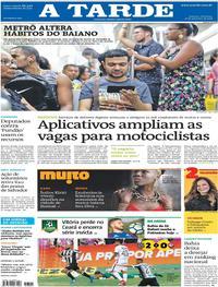 Capa do jornal A Tarde 16/09/2018