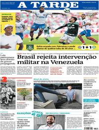 Capa do jornal A Tarde 17/09/2018