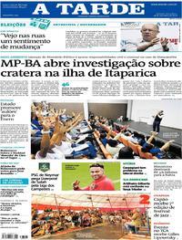 Capa do jornal A Tarde 18/09/2018
