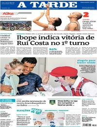Capa do jornal A Tarde 19/09/2018