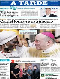 Capa do jornal A Tarde 20/09/2018