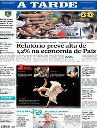 Capa do jornal A Tarde 21/09/2018