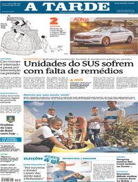 Capa do jornal A Tarde 26/09/2018