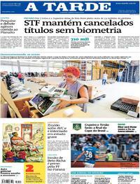 Capa do jornal A Tarde 27/09/2018