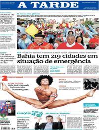 Capa do jornal A Tarde 28/09/2018