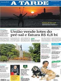 Capa do jornal A Tarde 29/09/2018