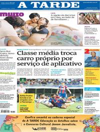 Capa do jornal A Tarde 30/09/2018