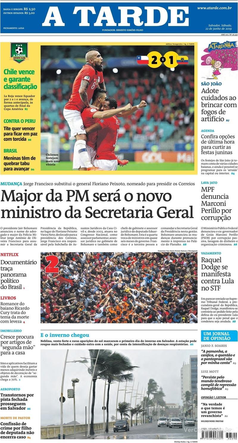 Capa jornal A Tarde