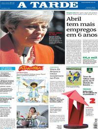 Capa Jornal A Tarde 25/05/2019