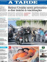 Capa do jornal A Tarde 03/12/2020