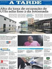 Capa do jornal A Tarde 04/08/2020