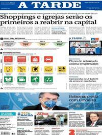 Capa do jornal A Tarde 08/07/2020