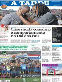 Capa do jornal A Tarde 09/08/2020