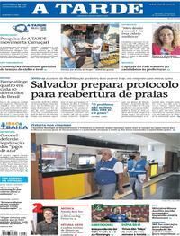 Capa do jornal A Tarde 19/09/2020