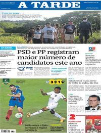 Capa do jornal A Tarde 20/10/2020
