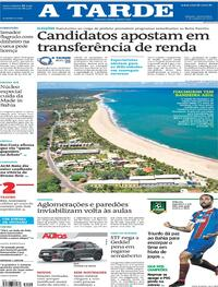 Capa do jornal A Tarde 21/10/2020