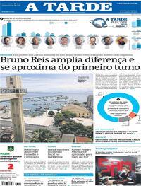 Capa do jornal A Tarde 22/10/2020