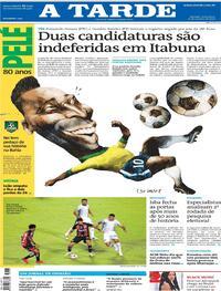 Capa do jornal A Tarde 23/10/2020