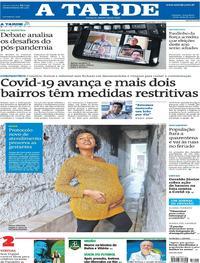 Capa do jornal A Tarde 26/05/2020