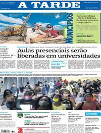 Capa do jornal A Tarde 29/10/2020