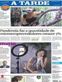 Capa do jornal A Tarde 31/05/2020