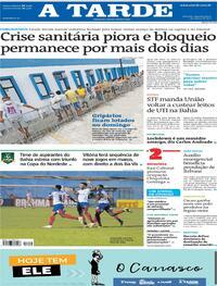 Capa do jornal A Tarde 01/03/2021