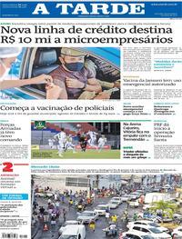 Capa do jornal A Tarde 01/04/2021