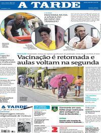 Capa do jornal A Tarde 01/05/2021