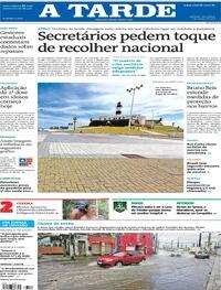 Capa do jornal A Tarde 02/03/2021
