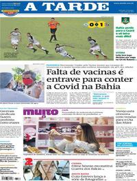 Capa do jornal A Tarde 02/05/2021