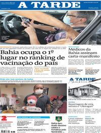 Capa do jornal A Tarde 03/04/2021