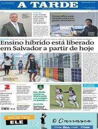 Capa do jornal A Tarde 03/05/2021