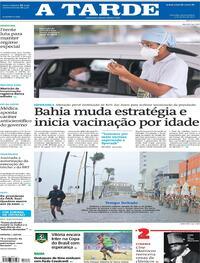 Capa do jornal A Tarde 03/06/2021