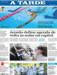 Capa do jornal A Tarde 03/08/2021
