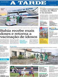 Capa do jornal A Tarde 04/03/2021
