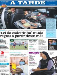 Capa do jornal A Tarde 04/04/2021
