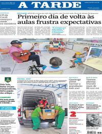 Capa do jornal A Tarde 04/05/2021