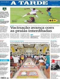 Capa do jornal A Tarde 04/06/2021